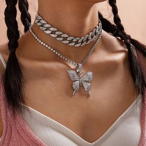 Jewelry - Sexy Blingy Choker Link Necklace